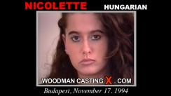 Download Nicolette casting video files. Pierre Woodman undress Nicolette, a Hungarian girl.