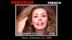 Download Deborah casting video files. Pierre Woodman undress Deborah, a French girl.