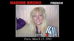 Access Nadine Bronx casting in streaming. Pierre Woodman undress Nadine Bronx, a French girl.