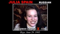 Download Julia Spain casting video files. Pierre Woodman undress Julia Spain, a Russian girl.