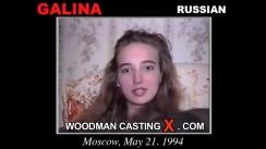 Download Galina casting video files. Pierre Woodman undress Galina, a Russian girl.