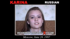 Watch Karina first XXX video. A Russian girl, Karina will have sex with Pierre Woodman.