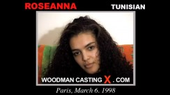 Download Roseanna casting video files. A Tunisian girl, Roseanna will have sex with Pierre Woodman.