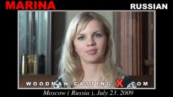Look at Marina getting her porn audition. Erotic meeting between Pierre Woodman and Marina, a Russian girl.
