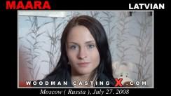 Check out this video of Maara having an audition. Erotic meeting between Pierre Woodman and Maara, a Latvian girl.