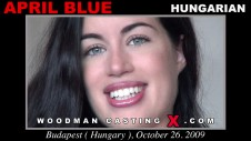 Sex Castings April blue