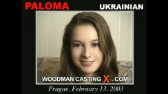 Access Paloma casting in streaming. Pierre Woodman undress Paloma, a Ukrainian girl.