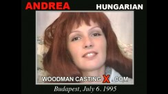 Watch Andrea first XXX video. Pierre Woodman undress Andrea, a Hungarian girl.