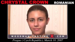 Check out this video of Chrystal Crown having an audition. Erotic meeting between Pierre Woodman and Chrystal Crown, a Romanian girl.