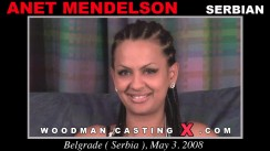 Download Anet Mendelson casting video files. Pierre Woodman undress Anet Mendelson, a Serbian girl.