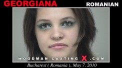 Download Georgiana casting video files. Pierre Woodman undress Georgiana, a Romanian girl.