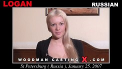 Download Logan casting video files. A Russian girl, Logan will have sex with Pierre Woodman.