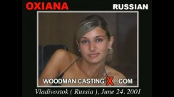 Download Oxiana casting video files. Pierre Woodman undress Oxiana, a Russian girl.