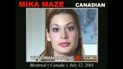 Watch our casting video of Mika Maze. Erotic meeting between Pierre Woodman and Mika Maze, a Canadian girl.