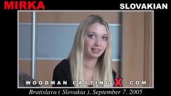 Download Mirka casting video files. Pierre Woodman undress Mirka, a Slovak girl.