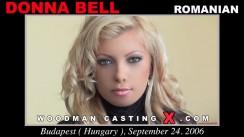 Download Donna Bell casting video files. Pierre Woodman undress Donna Bell, a Romanian girl.