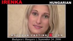 Access Irenka casting in streaming. Pierre Woodman undress Irenka, a Hungarian girl.