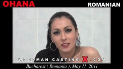 Check out this video of Ohana having an audition. Erotic meeting between Pierre Woodman and Ohana, a Romanian girl.