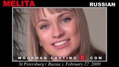 Look at Melita getting her porn audition. Erotic meeting between Pierre Woodman and Melita, a Russian girl.