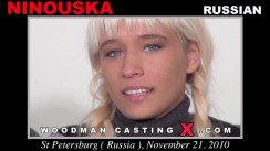 Watch Ninouska first XXX video. A Russian girl, Ninouska will have sex with Pierre Woodman.