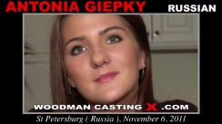 Check out this video of Antonia Giepky having an audition. Erotic meeting between Pierre Woodman and Antonia Giepky, a Russian girl.