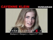 See the audition of Cayenne Klein