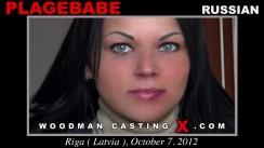 Look at Plagebabe getting her porn audition. Erotic meeting between Pierre Woodman and Plagebabe, a Russian girl.