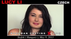 Watch our casting video of Lucy Li. Pierre Woodman fuck Lucy Li, Czech girl, in this video.