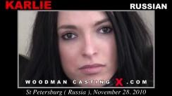Look at Karlie getting her porn audition. Erotic meeting between Pierre Woodman and Karlie, a Russian girl.
