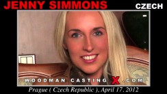 Access Jenny Simmons casting in streaming. A Czech girl, Jenny Simmons will have sex with Pierre Woodman.