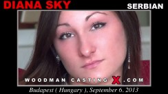Watch Diana Sky first XXX video. A Serbian girl, Diana Sky will have sex with Pierre Woodman.