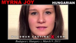 Access Myrna Joy casting in streaming. A Hungarian girl, Myrna Joy will have sex with Pierre Woodman.