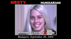 Access Nesty casting in streaming. Pierre Woodman undress Nesty, a Hungarian girl.