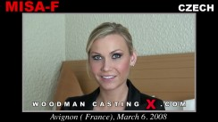 Look at Misa-f getting her porn audition. Erotic meeting between Pierre Woodman and Misa-f, a Czech girl.