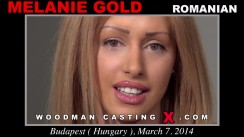 Look at Melanie Gold getting her porn audition. Erotic meeting between Pierre Woodman and Melanie Gold, a Romanian girl.