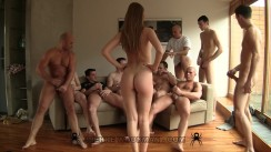 Alexis Crystal - hard - gang bang party