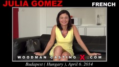 Download Julia Gomez casting video files. A French girl, Julia Gomez will have sex with Pierre Woodman.