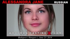 Access Alessandra Jane casting in streaming. A Russian girl, Alessandra Jane will have sex with Pierre Woodman.