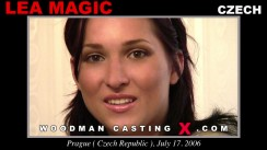 Look at Lea Magic getting her porn audition. Erotic meeting between Pierre Woodman and Lea Magic, a Czech girl.