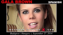 Download Gala Brown casting video files. A Spanish girl, Gala Brown will have sex with Pierre Woodman.
