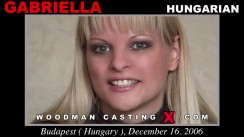 Watch our casting video of Gabriella. Erotic meeting between Pierre Woodman and Gabriella, a Hungarian girl.