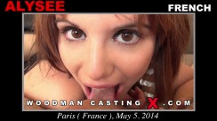 Watch Alysee first XXX video. Pierre Woodman undress Alysee, a French girl.