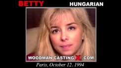 Watch our casting video of Betty. Erotic meeting between Pierre Woodman and Betty, a Hungarian girl.