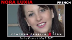 Download Nora Luxia casting video files. Pierre Woodman undress Nora Luxia, a French girl.