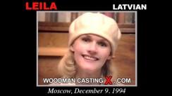 Download Leila casting video files. Pierre Woodman undress Leila, a Latvian girl.