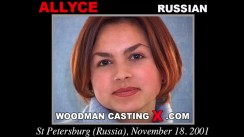 Check out this video of Allyce having an audition. Erotic meeting between Pierre Woodman and Allyce, a  girl.