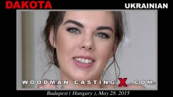 Access Dakota casting in streaming. Pierre Woodman undress Dakota, a Ukrainian girl.