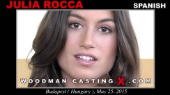 Download Julia Roca casting video files. A Spanish girl, Julia Roca will have sex with Pierre Woodman.