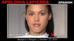 Look at Apolonia Lapiedra getting her porn audition. Erotic meeting between Pierre Woodman and Apolonia Lapiedra, a Spanish girl.