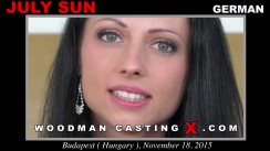 Watch July Sun first XXX video. Pierre Woodman undress July Sun, a German girl.
